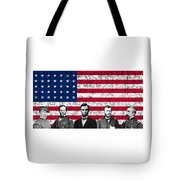 Union Heroes And The American Flag Tote Bag by War Is Hell Store