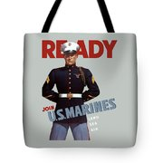 Us Marines - Ready Tote Bag by War Is Hell Store