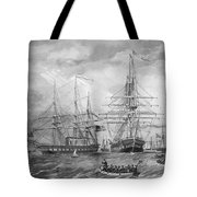 U.s. Naval Fleet During The Civil War Tote Bag by War Is Hell Store