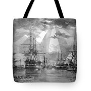 U.s. Naval Ships At The Brooklyn Navy Yard Tote Bag by War Is Hell Store