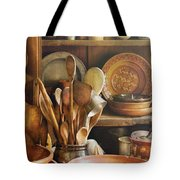 Utensils - Remembering Momma Tote Bag by Mike Savad