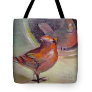 VAIN CARDINAL Tote Bag by Donna Shortt