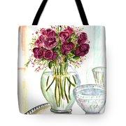 Valentines Crystal Rose Tote Bag by Clara Sue Beym