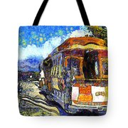 Van Gogh Vacations In San Francisco 7d14099 Tote Bag by Wingsdomain Art and Photography