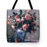 Vase Of Roses Tote Bag by Pierre Auguste Renoir