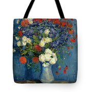 Vase with Cornflowers and Poppies Tote Bag by Vincent Van Gogh