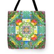 Vegetable Patchwork Tote Bag by Isobel  Brook Haslam
