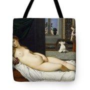 Venus Of Urbino Before 1538 Tote Bag by Tiziano Vecellio