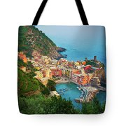 Vernazza From Above Tote Bag by Inge Johnsson