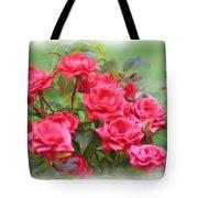 Victorian Rose Garden - Digital Painting Tote Bag by Carol Groenen