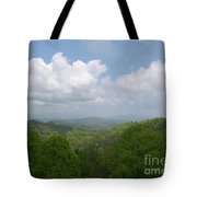 View From Ober Gatlinburg Tote Bag by Barb Montanye Meseroll