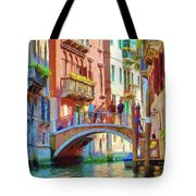 View From The Canal Tote Bag by Jeff Kolker