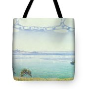 View Of Lake Leman From Chexbres Tote Bag by Ferdinand Hodler