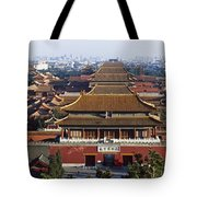 View Of The Forbidden City At Dusk From Tote Bag by Axiom Photographic