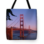 View Of The Golden Gate Bridge Tote Bag by American School
