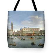 View Of Venice From The Island Of San Giorgio Tote Bag by Gaspar van Wittel