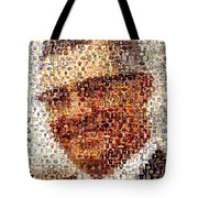 Vince Lombardi Green Bay Packers Mosaic Tote Bag by Paul Van Scott