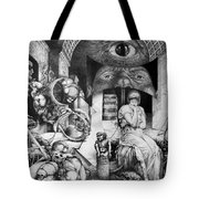 Vindobona Altarpiece IIi - Snakes And Ladders Tote Bag by Otto Rapp