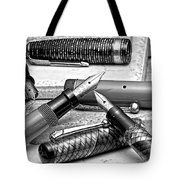 Vintage Fountain Pens Tote Bag by Tom Mc Nemar