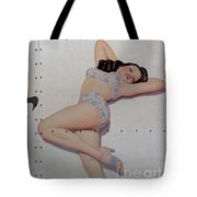 Vintage Nose Art Betties Bulldogs Tote Bag by Cinema Photography