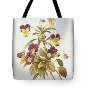 Viola Tricolour Tote Bag by Pierre Joseph Redoute