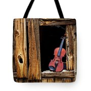 Violin In Window Tote Bag by Garry Gay