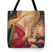 Virgin And Child  Tote Bag by Neri di Bicci