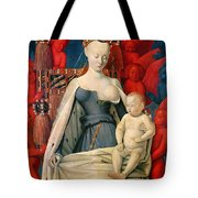 Virgin And Child Surrounded By Angels Tote Bag by Jean Fouquet