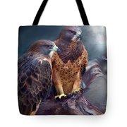 Vision Of The Hawk Tote Bag by Carol Cavalaris