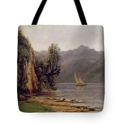 Vue Du Lac Leman Tote Bag by Gustave Courbet