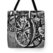 Wagon Wheel Graveyard Tote Bag by Douglas Barnard