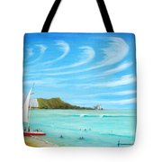 Waikiki Tote Bag by Jerome Stumphauzer