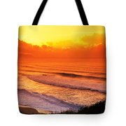 Waimea Bay Sunset Tote Bag by Vince Cavataio - Printscapes