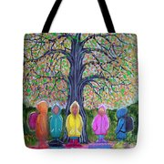 Waiting For The Bus Tote Bag by Nick Gustafson