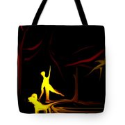 Walk In The Dog Park Tote Bag by David Lane
