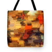 Warm Colors Abstract Tote Bag by Carol Groenen