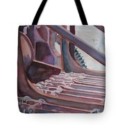 Washroom Gears Tote Bag by Jenny Armitage