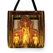 Wat Chedi Luang Wora Wihan Tote Bag by Greg Vaughn - Printscapes