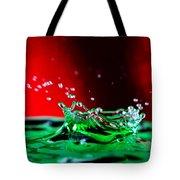 Water drop splashing Tote Bag by Paul Ge