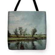 Water Meadows Near Salisbury Tote Bag by John Constable