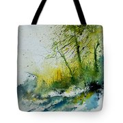 Watercolor 181207 Tote Bag by Pol Ledent