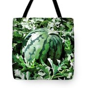 Waterelons In A Vegetable Garden Tote Bag by Lanjee Chee