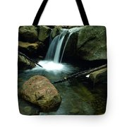 Waterfall In The Woods Tote Bag by Kathy Yates