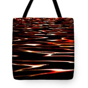 Waves On Fire Abstract Tote Bag by David Patterson