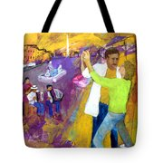 We Tangoed on the Piazza Navono Tote Bag by Keith Thue