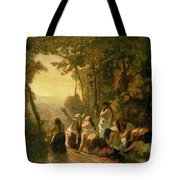 Weeping Of The Daughter Of Jephthah Tote Bag by Narcisse Virgile Diaz de la Pena