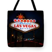 Welcome to Las Vegas Tote Bag by Steve Gadomski