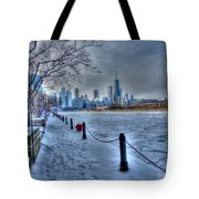 West From Navy Pier Tote Bag by David Bearden