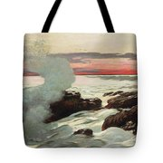 West Point Prouts Neck Tote Bag by Winslow Homer