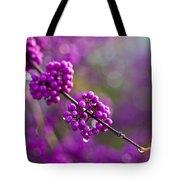 Wet Purple 2 Tote Bag by Mike Reid